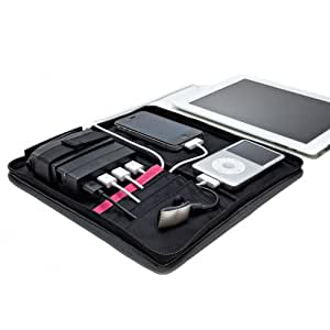 Portable Charging Station: Classic Folio+ (Charge 4 USB Devices, Travel Cable Organizer)