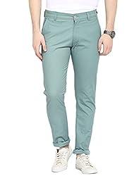 Green Non Lycra Cotton Chinos 34
