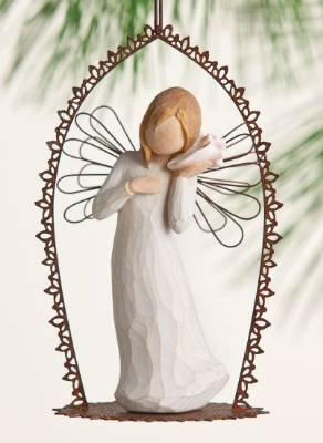 Willow Tree Thinking of You Trellis Ornament