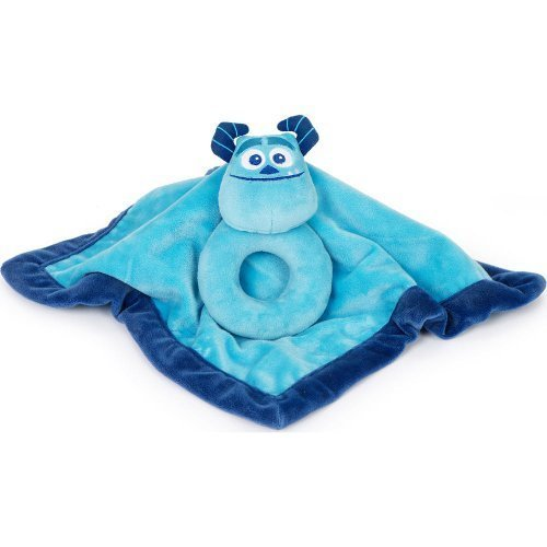 Disney Baby Monsters, Inc. Sulley Security Blanket and Ring Rattle Set by Kids Line (Monsters Inc Toddler Blanket compare prices)