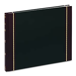 TOPS Visitors Register Book, 17 Lines per Page, 208 Pages per Book, Black Cover (V25491)