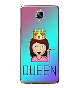 Queen 2D Hard Polycarbonate Designer Back Case Cover for OnePlus 3 :: OnePlus Three