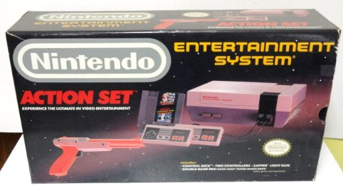 Nintendo NES System - Video Game Console Bundle  (Includes 2 Controllers / Zapper / Super Mario Bros./Duck Hunt)