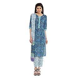 Pinkshink Pure Cotton Blue Salwar Kameez Dress Material 102a