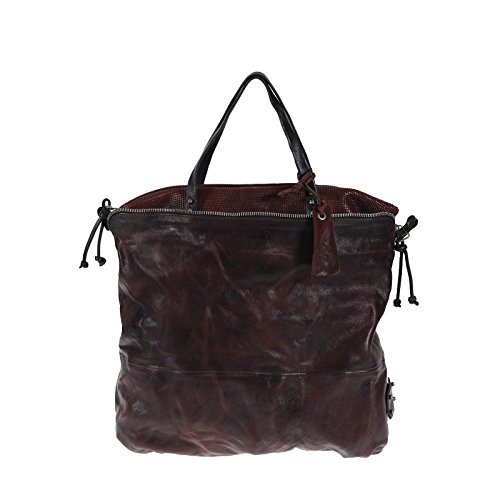 A.S.98 Airstep Henkeltasche 200105 Leather Shopper sacchetto di spalla Amarnato Bordeaux