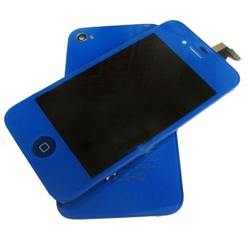 Tengfei Replacement Lcd Touch Screen With Tools Kit For Iphone 4S Dark Blue