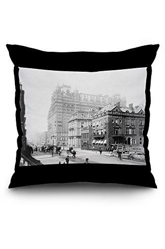 waldorf-astoria-hotel-new-york-ny-photo-20x20-spun-polyester-pillow-black-border