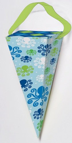 Ocean Preppy Boy Cone-shaped Favor Boxes