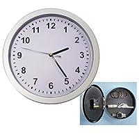 Wall Clock Hidden Safe Secret Hide Home Security Valuables Cash Jewelry Stash !