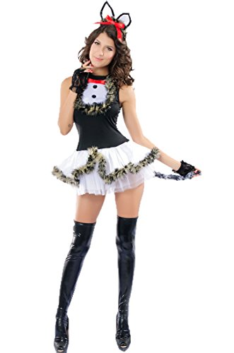 Bunny Lingerie Sweet Clubwear Teddies Sexy Bubble Skirt Halloween Costume Cat