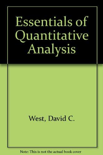 Essentials of Quantitative Analysis PDF