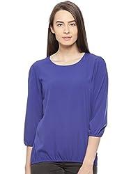 Vvoguish ROYAL BLUE Solid Print 100% Cotton Top VVTOP695RBLU_L