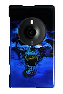 Graphic Case for Nokia Lumia 1020 - Blue Skull (Package include a HandHelditems Sketch Stylus Pen)