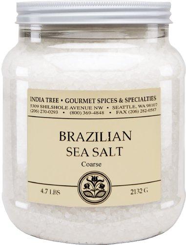 India Tree Brazilian Coarse Sea Salt, 4.7 lb (Pack of 2)