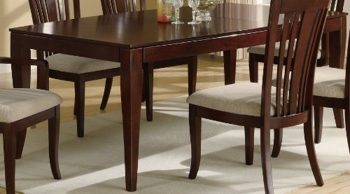 Dining Table with Boat Shape Top in Deep Cherry Finish
