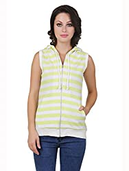 Cherymoya Women's Cotton Jersey Jackets (CM-1400674_Neon__Large)