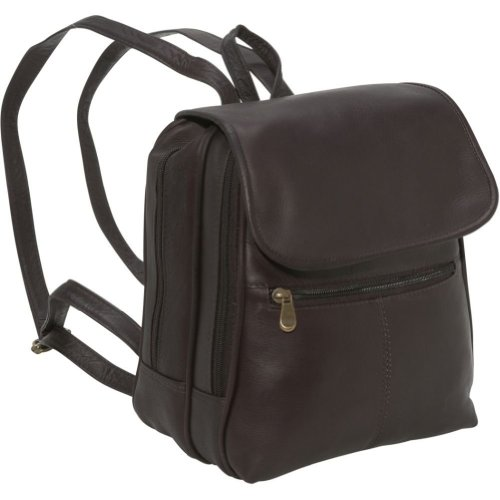 Cape Cod Leather Emery Leather Backpack / Purse (Cafe)
