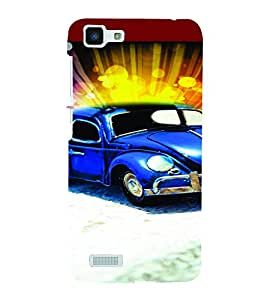 PrintVisa Cute Car 3D Hard Polycarbonate Designer Back Case Cover for VivoY27L