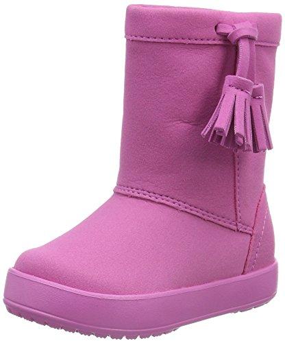 Crocs Lodgepointbootk, Sneaker a Collo Alto Bambina, Rosa (Party Pink), 25-26 EU