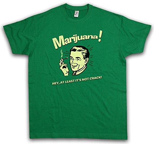 "MARIJUANA ""J"" T-SHIRT - Fun Cannabis Leaf Smoke Smoking Weed Pot Shit Kush Taglie S - 3XL"