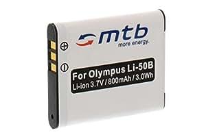 Batterie Li-50b pour Olympus SZ-30MR, SZ-31MR, TOUGH TG-610, TG-620, TG-630