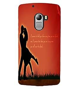 ColourCraft Loving Couple Design Back Case Cover for LENOVO A7010