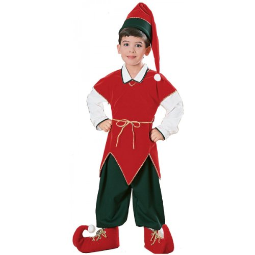 Children's Velvet Elf Suit Costume - Medium