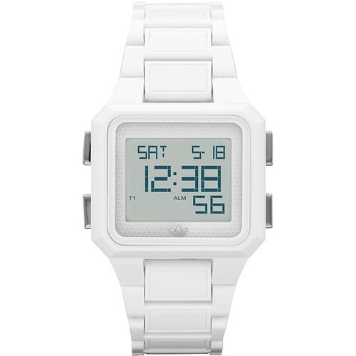 Adidas Women's ADH4500 White Plastic Quartz Watch with Grey Dial