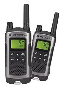 Motorola Talker T80 2 Way Walkie Talkie Radio - Black (Pack of 2)