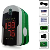 Concord Emerald Fingertip Pulse Oximeter with free carrying case, lanyard and protective cover