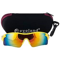 Eyeland Non-Polarized Wrap Sunglasses (Yellow, EYE226)