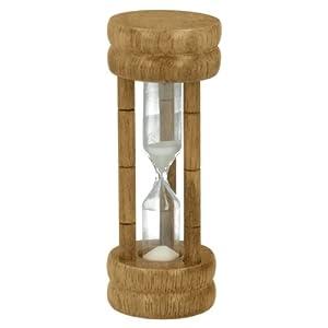 Metaltex - Reloj de arena (3 minutos, madera de caucho, 10 cm de alto) por METALTEX Deutschland GmbH