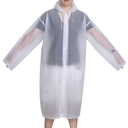 mudder-portable-raincoat-rain-poncho-with-hoods-and-sleeves-clear-white