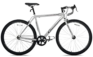 Giordano Rapido Single Speed Road Bike, 700c, White, Medium