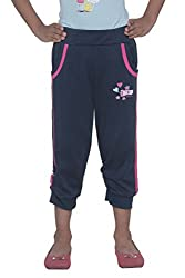 Menthol Girls 3/4 Pant (3-4 Years, Navy)