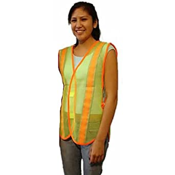 MayDay Industries Safety Vest - Lime Green with Reflective Tape