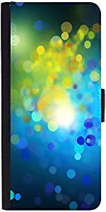 Snoogg Blue Drops Pattern Designer Protective Phone Flip Case Cover For Lenovo A6000