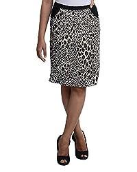 VeaKupia Women's Slim Regular Fit Skirt (7301, Animal Print, 28)