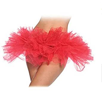 Hee Grand Femme Vives Dancer Burlesque Sept Gradins Tulle Costume de Ballet Tutu Jupe Rouge
