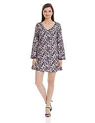 NUN Women's Cut-Out Dress (NUNDR5212_Multicoloured_S)