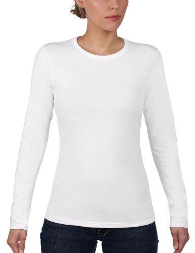 Anvil - Maglietta, Manica lunga, Donna, bianco (Weiß (WHT-White 030)), L