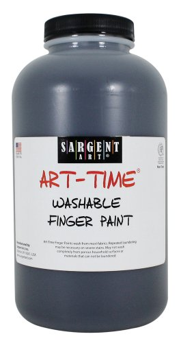 Sargent Art 22-9585 32-Ounce Art Time Washable Finger Paint, Black - 1