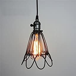 CHXDD Retro Contracted Metal Loft Pendant Lights, Creative Black Painting Living Room Dining Room Garage light Fixture , black