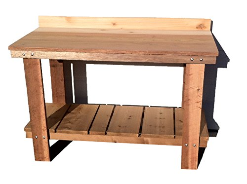 Mill Direct Western Cedar Potting Table, Red (Western Red Cedar Potting Bench compare prices)