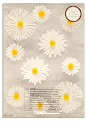 Martha Stewart Crafts 3 Dimensional Stickers Daisy Glossary White/Yellow By The Package