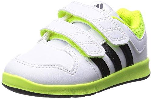 [アディダス] adidas キッズシューズ LK トレーナー エックス I B24492 B24492 (ランニングホワイト/コアブラック/ソーラーイエロー/14.0)