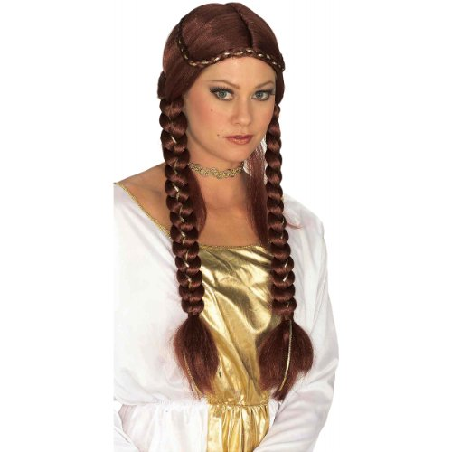 Renaissance Braided Wig Costume Accessory