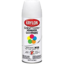 Krylon 53517 Bright White 'Satin Touch' Decorator Spray Paint - 12 oz. Aerosol