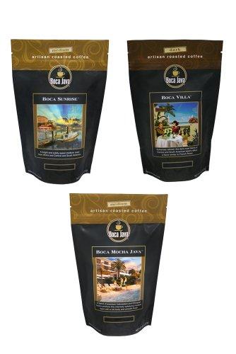 Boca Java Roast to Order, Best of Boca Variety Pack, Whole Bean, 8 oz. bags (Pack of 3)