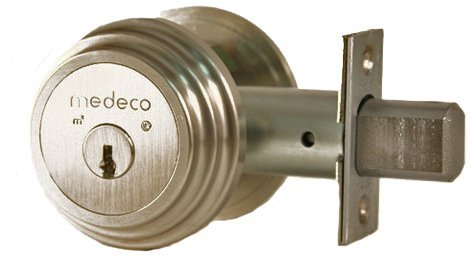Medeco 11TR50319 Maxum Residential Single Cylinder Deadbolt, Satin Nickel, High Security Restricted M3 Keyway, Keyed Different (Grade 1 Deadbolt compare prices)